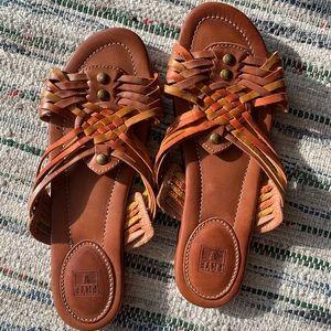 Frye Shoes - <vintage> Frye hurrache sandals EUC